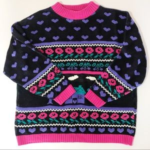Adele USA Vintage 1980s Acrylic Colorful Sweater L